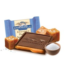 Ghirardelli dark chocolate with sea salt caramel