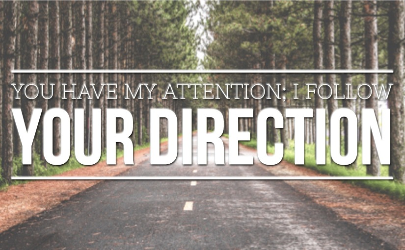 You Have My Attention; I Follow Your Direction